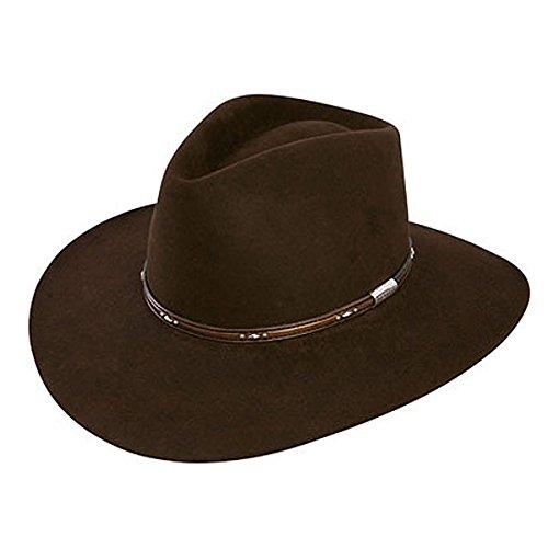 Stetson Men's 5X Pawnee Fur Felt Cowboy Hat Chocolate 7 1/8