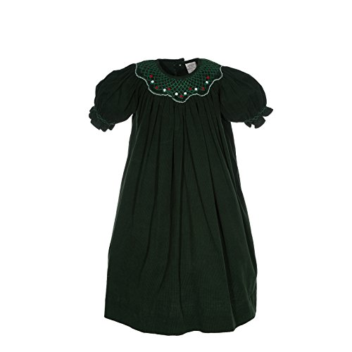 Carriage Boutiques Green - Carriage Boutique Girl's Green Holiday Short Sleeve Bishop Dress (6M)
