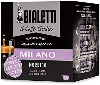 Bialetti Caffè d'Italia Milano (Gusto Morbido) – Box 16 Capsule