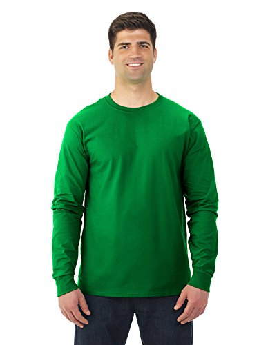 T-shirts Blank Sleeve Long (Fruit of the Loom 5 oz.Heavy Cotton HD Long-Sleeve T-Shirt 4930 -KELLY XL)