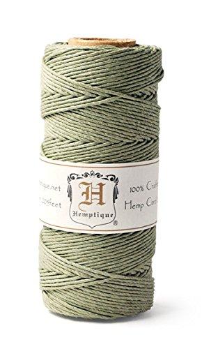 Hemp Cord Spool 20# 205 Feet/Pkg-Dusty Olive