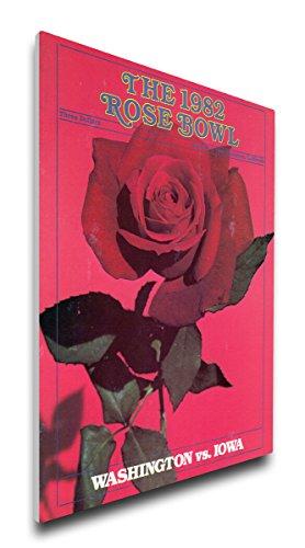 NCAA Washington Huskies 1982 Rose Bowl Canvas Program Cover, Regular (Washington Bowl Rose Huskies)