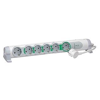 color blanco y gris 694621 Bases M/últiples Confort cable de 1,5mts interruptor gama /'Confort/' Legrand regleta enchufes con interruptor 3 tomas Regleta con 3 enchufes