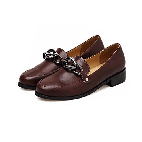Giy Kvinners Klassiske Penny Loafers Slip-on Spenne Uformell Rund Tå  Komfort Retro Kjole Oxford
