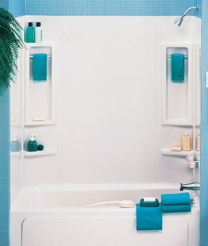 ASB 39240 Vantage Tub Wall, White, 5-Piece (Bath Tub Walls & Surrounds)