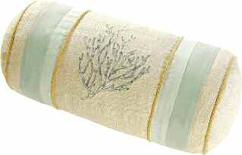 C&F Home 6x12'' Embroidered Neckroll, Natural Shells by C&F Home