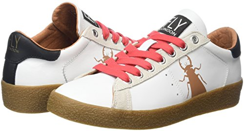 Berg823fly Donna white London Bianco Sneaker Fly Laces beigered 1AqTzwx
