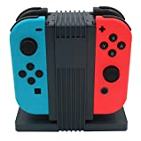 J&TOP 4 in 1 Joy-Con Charge Dock for Nitendo Switch with USB-C Cable