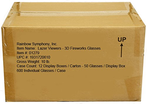 Rainbow Symphony 3D Fireworks Glasses Laser Viewers - 12 Boxes of 50 Pieces Each by Rainbow Symphony (Image #2)