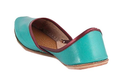 Turquoise Leather Choice Solid Collection Women's Red Jutis xApYUqn4wO