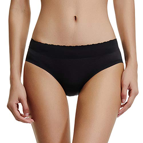 - Padded Panties Butt Enhancer Underwear Women Seamless Booty Lifter Shaper (Black-New Size, M)