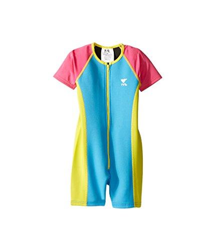 (TYR Kids Baby Girl's Solid Thermal (Toddler/Little Kid/Big Kid) Blue/Pink/Yellow 9/10 (Big Kid))