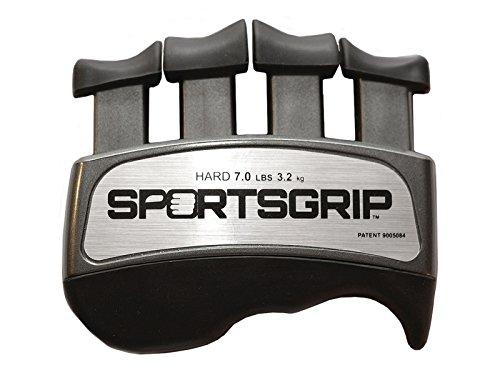 SPORTSGRIP Hand and Finger Exerciser (Hard - 7lbs / 3.2kg) - Best Ergonomic Finger Strengthener to Improve Grip for All Sport Athletes