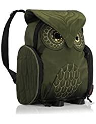 Darlings Owl Water Resistant Lightweight Mini Backpack - Small - Olive