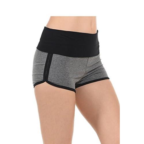 New EttelLut Athletic Running Exercise High Waisted Gym Yoga Foldover Booty Dolphin Shorts free shipping