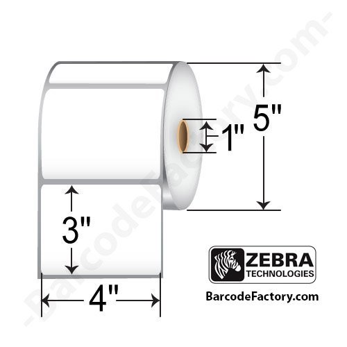 4x3 direct thermal labels zebra - 4