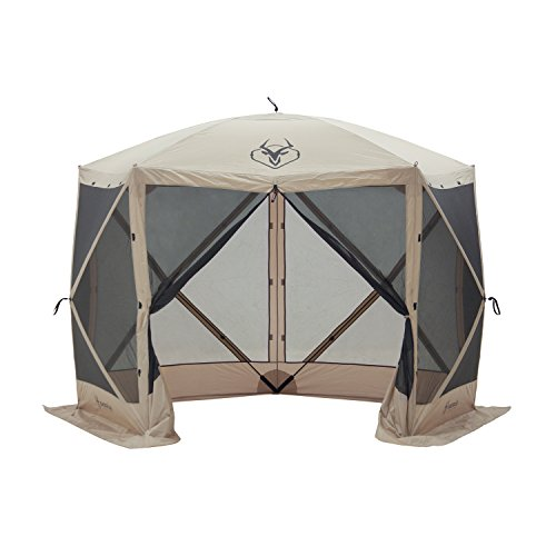 Gazelle 25500 G5 Pop Up Portable 5 Sided Hub Gazebo, 4 Person (Head 8' Mesh)