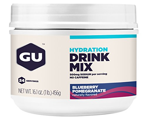 GU hydratation Drink Mix, Grenade bleuet, once 16,1 cartouche