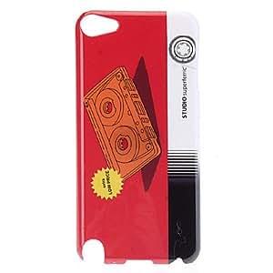 Patrón Videotape protector duro caso para el iPod Touch 5