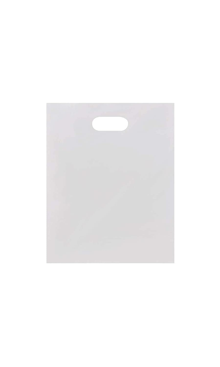 "9/""W x 12/""H SSWBasics Small Low Density White Merchandise Bags Case of 1000"
