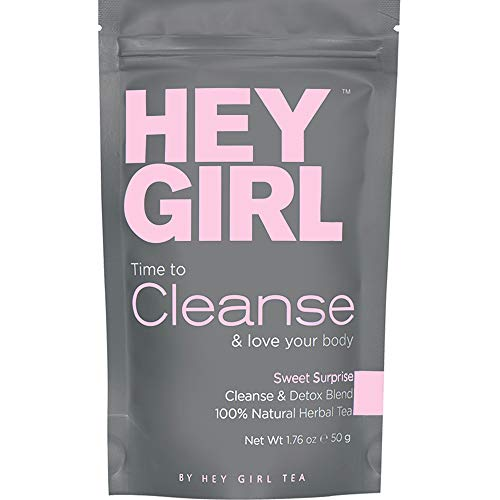 Detox Tea - Cleanse Herbal Teatox Reduces Bloating & Helps Your Body Stay Regular | Keep Your Colon Happy and You Feeling Healthy with Hey Girl Tea (Bootea 14 Day Detox Before And After)