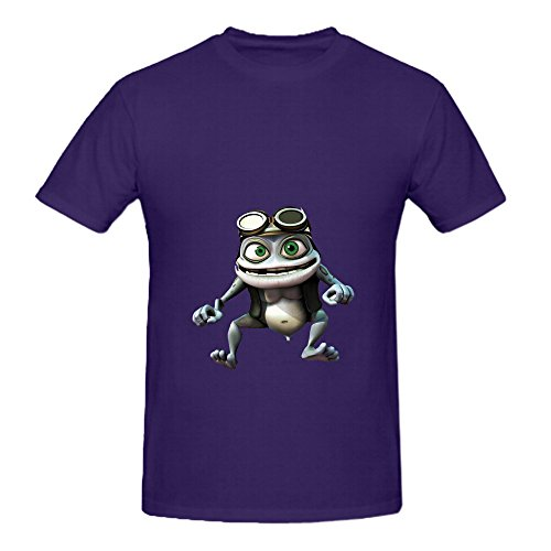 Crazy Frog 2 Hits Mens Crew Neck Printed Tee Purple