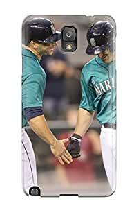 First-class Case Cover For Galaxy Note 3 Dual Protection Cover Seattle Mariners