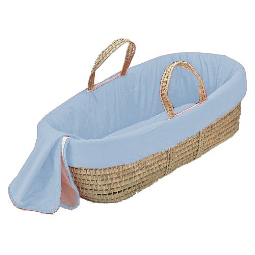 bkb Solid Color Moses Basket, Brown 009243370260