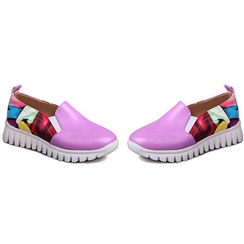 Shoes 34 Woman Autumn Fashion Single 11 Size 46 Big Spring Comfortable Quality Fashion Leisure Lavender Shoes Kenavinca nTqOYY