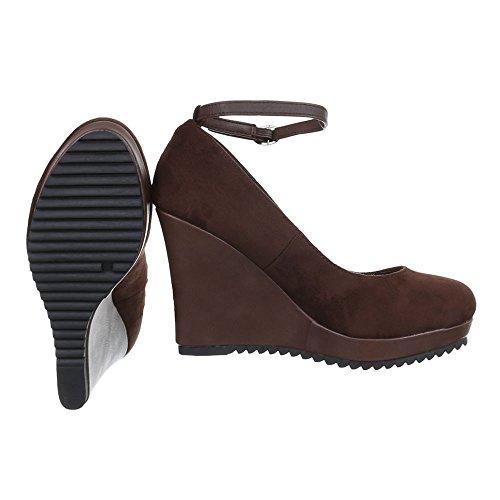 Ital-Design - Plataforma Mujer marrón oscuro