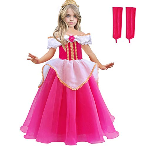 Sleeping Beauty Princess Aurora Costumes Girls Puffy Ball Gown Pageant Party Dresses Cosplay
