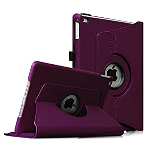 Fintie iPad Air 2 Case (2014 Release) - 360 Degree Rotating Stand Protective Case Smart Cover with Auto Sleep/Wake Feature for Apple iPad Air 2, Purple