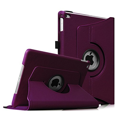 Fintie iPad Air 2 Case - 360 Degree Rotating Stand Case with Smart Cover Auto Sleep / Wake Feature for Apple iPad Air 2 (iPad 6) 2014 Model, Purple (Apple Ipad Air Mount 360)