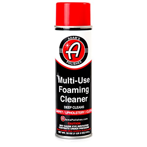 - Adam's Multi-Use Foaming Cleaner - Foaming Formula for Simple and Fast Cleaning - Safe on Carpet, Cloth, and Velour (18 oz)