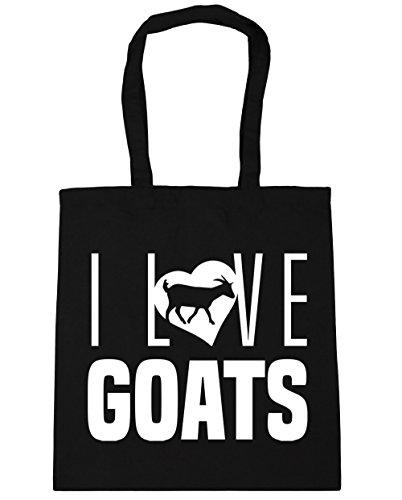 Gym Beach 10 Black litres Bag Goats 42cm x38cm I HippoWarehouse Shopping Tote Love xUXZOZY