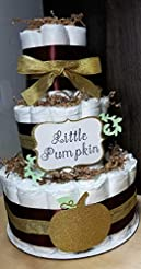 Little Pumpkin Diaper Cake - 3 Tier - Ba...
