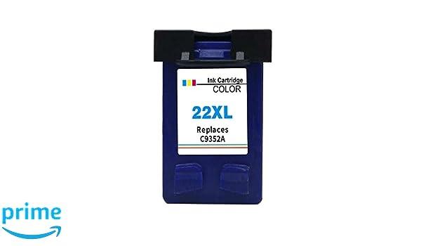 Kyansin 22XL 22 Cartuchos de Tinta remanufacturados Tintas de Alto Rendimiento (C9352A) 1 Paquete (1 Color) Alta Capacidad Compatible con HP DeskJet ...