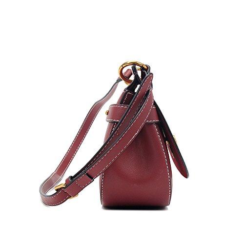Messenger à Rouge Doux Carré vin bandoulière Cover Bag Simple Sac Retro Yiwuhu PU Lock qxUzcH