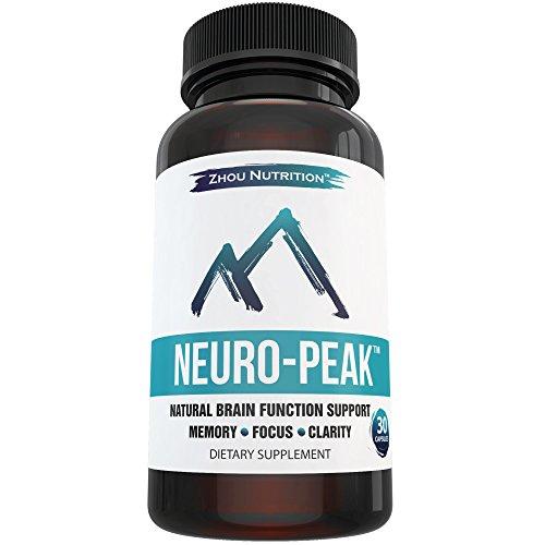 Ayuda de la función natural del cerebro para memoria, enfoque y claridad - Nootrópicos rendimiento Mental - médico-formulado para ofrecer una óptima combinación de hierba de San Juan, DMAE, L-glutamina y más