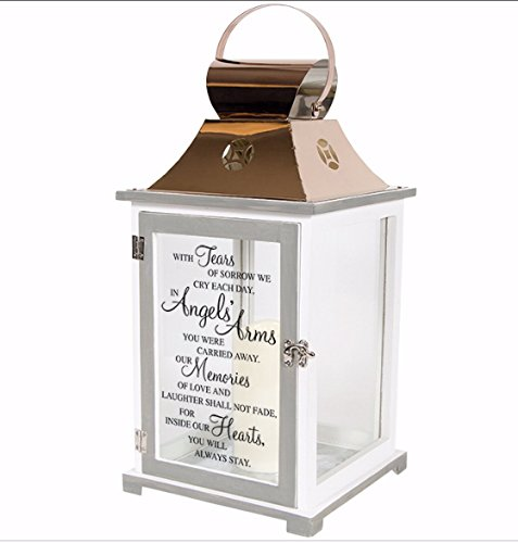 """Angels' Arms"" Memorial Copper Candle Lantern"