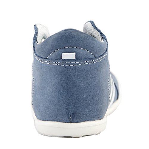 Babyschuhe Kinderschuhe Lauflernschuhe blau Gr. 20 Modell Emel 794 handmade
