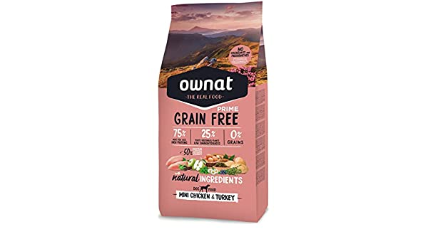 Ownat Grain Free Prime Mini Adult Chicken & Turkey 3000 g: Amazon.es: Productos para mascotas