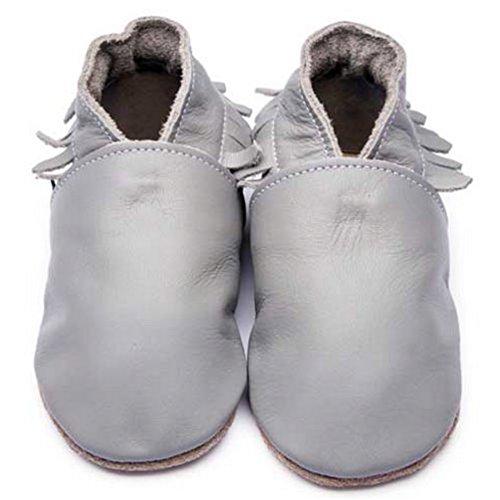 Grau Leder Mokassins Den Schuhe Weiche Mädchen Inch Blue Jungen für Sohle Luxuriösem Kinderwagen Aus 74zxwqO