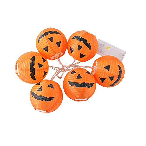 Vicbovo Clearance Halloween Lights Pumpkin String Lights, 6 LED Outdoor Decorative Lights for Party, Garden, Gate, Yard, Halloween Christmas Decoration (Decorating Christmas Bookcase)