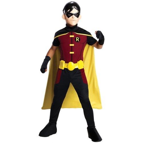 Young Justice Costumes For Kids (Rubie's Costume Young Justice Robin Child Costume,)