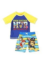 Nick Jr Paw Patrol Boy's Swim Trunks and Rash Guard Set (Toddler)