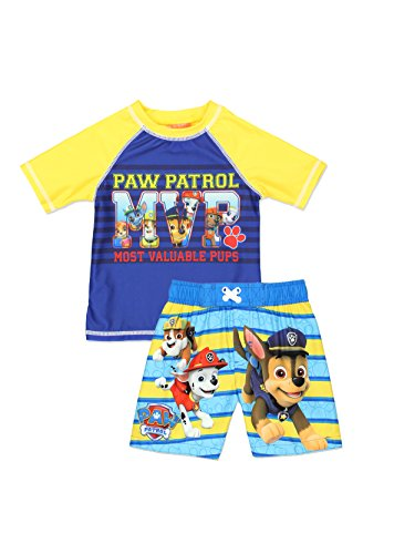 Paw Patrol Boy's Swim Trunks and Rash Guard Set