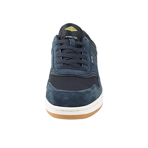 Safety Toe Athletic Shoes - Skater Style, Safety Toe Shoe Sneakers - Steel Toe Plus Slip Resistant and Electrical Hazard Resistant- Blue