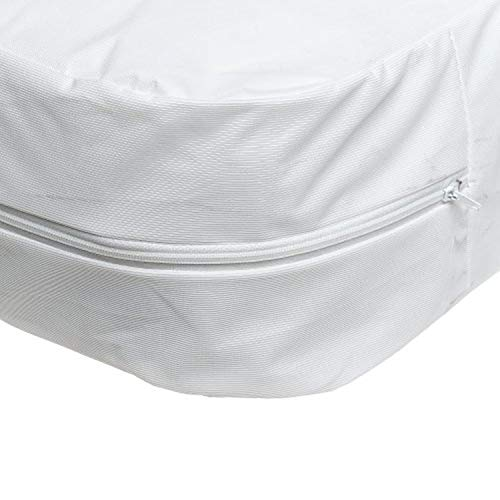 DMI Zippered Plastic Mattress Cover Protector, Waterproof, Twin Size, ()