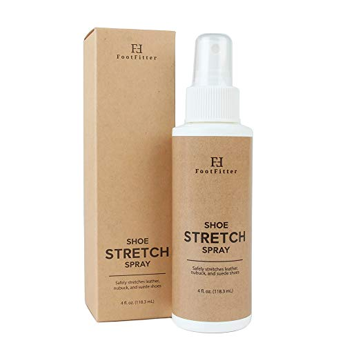 FootFitter Shoe and Boot Stretch Spray - Stretcher Solution for Leather, Suede, Nubuck, and Canvas!, 4 fl.oz.